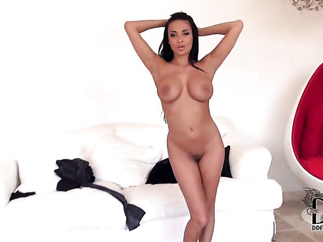 Milf Anissa Kate with big knockers and shaved bush cant live a day without toying her twat