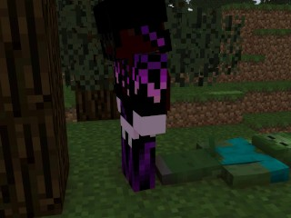 Minecraft Endie finds a Zombie [Endie X Zombie]