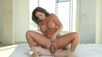 PureMature MILF busty Richelle Ryan after yoga stretch fuck and facial